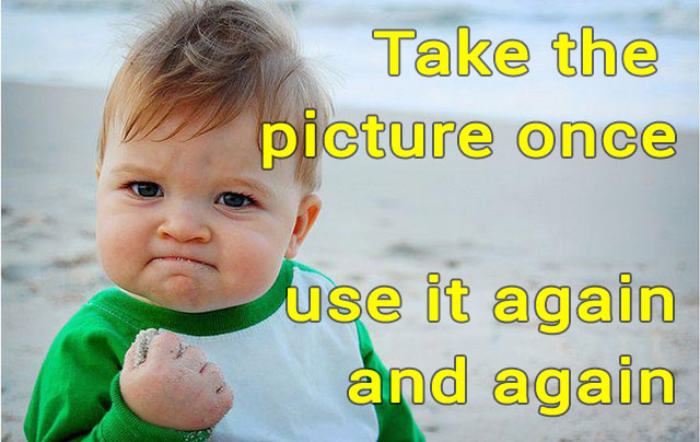 Take the picture once, use it again and again creative content spirit web architect